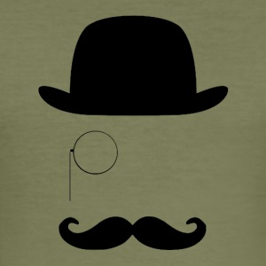 Gentleman med mustasch - Slim Fit T-shirt herr