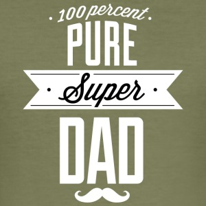 Pure super papa wit - slim fit T-shirt