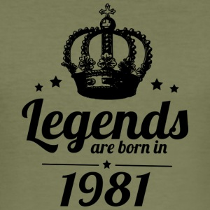 Legends 1981 - Men's Slim Fit T-Shirt