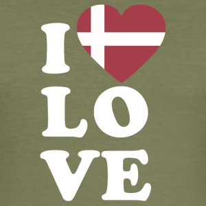 I love Denmark - Men's Slim Fit T-Shirt