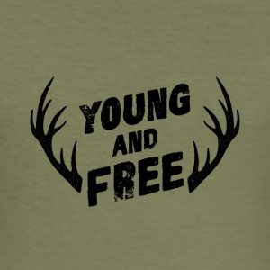 Young og gratis - Slim Fit T-skjorte for menn