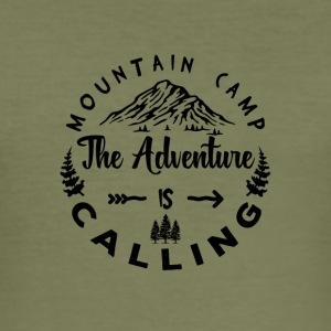 Mountain Camp The Adventure is Calling - Men's Slim Fit T-Shirt