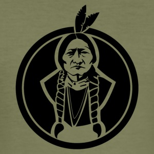 Sitting Bull Native American - Men's Slim Fit T-Shirt