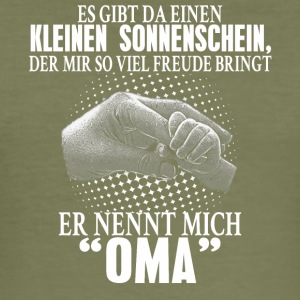 oma zonneschijn - slim fit T-shirt