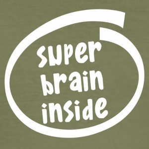 superbrain innsiden (1846B) - Slim Fit T-skjorte for menn