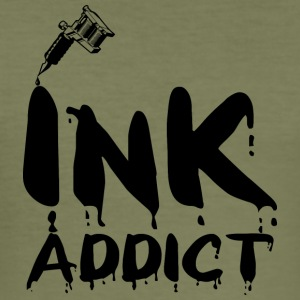 Tatouage / Tattoo: Ink Addict - Tee shirt près du corps Homme
