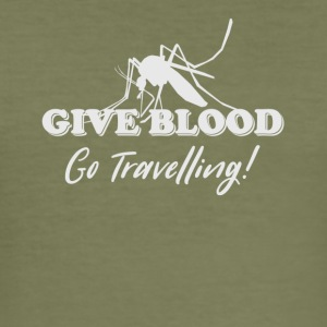 Give Blood Go Travelling - Men's Slim Fit T-Shirt