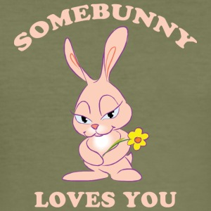 Pasqua somebunny Loves You - Maglietta aderente da uomo