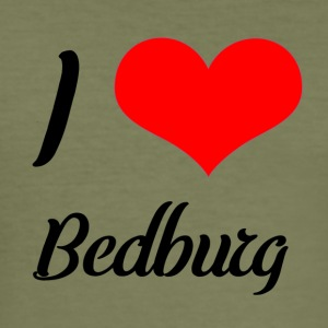 I love Bedburg - Männer Slim Fit T-Shirt