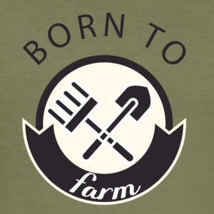 Farmer / Farmer / Farmer: Born To Farm. - Slim Fit T-shirt herr