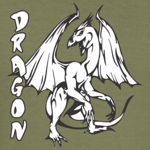 standing dragon - Men's Slim Fit T-Shirt