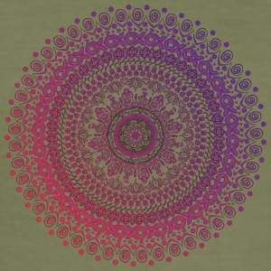 Mandala hand getekend, in rode en paarse tinten - slim fit T-shirt