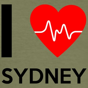 I Love Sydney - I love Sydney - Men's Slim Fit T-Shirt