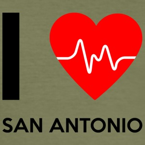 I Love San Antonio - I love San Antonio - Men's Slim Fit T-Shirt