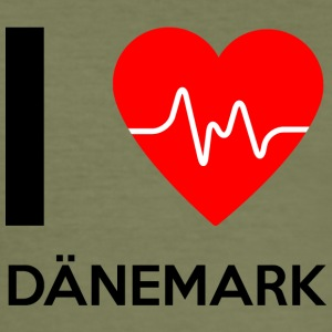 I Love Denmark - I love Denmark - Men's Slim Fit T-Shirt