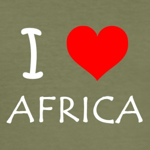 I Love AFRIKA - Herre Slim Fit T-Shirt
