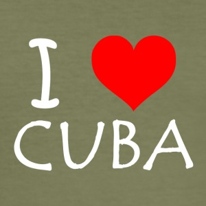 I Love Cuba - Men's Slim Fit T-Shirt