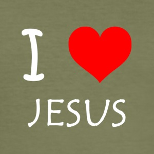 I Love Jesus - Herre Slim Fit T-Shirt