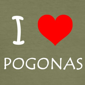 I Love pogonas - Herre Slim Fit T-Shirt