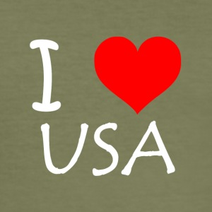 I Love USA - Herre Slim Fit T-Shirt