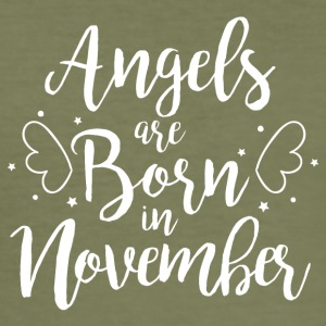 Angels are born in November - Men's Slim Fit T-Shirt