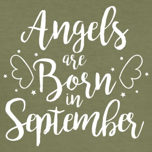 Angels are born in September - Men's Slim Fit T-Shirt