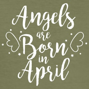 Angels are born in April - Men's Slim Fit T-Shirt