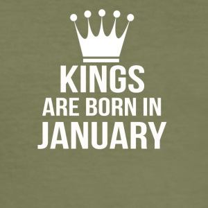 kings are born in january - Men's Slim Fit T-Shirt