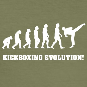 Kickboxing Evolution, cadeau voor Kickboxer - slim fit T-shirt