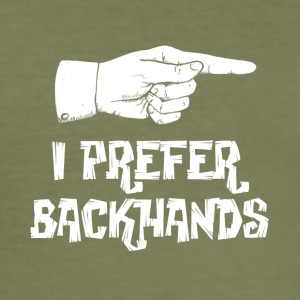 backhand - Slim Fit T-shirt herr