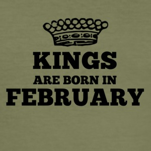 Kings are born in february - Men's Slim Fit T-Shirt