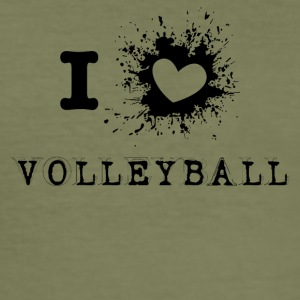 iLove volley-ball - Tee shirt près du corps Homme