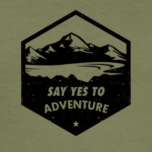 adventure - Männer Slim Fit T-Shirt