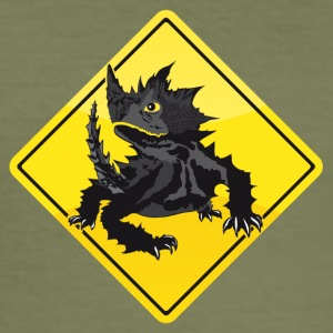 Australien Roadsign Thorny Devil - Männer Slim Fit T-Shirt