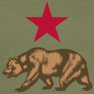 Russian bear - Men's Slim Fit T-Shirt