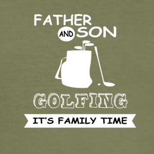 Far og sønn - Golf - Slim Fit T-skjorte for menn