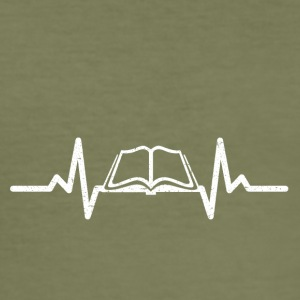 My heart beats for books - Men's Slim Fit T-Shirt