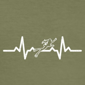 My heart beats for diving - Men's Slim Fit T-Shirt