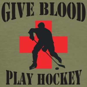 Hockey Giv Blood Play Hockey - Herre Slim Fit T-Shirt