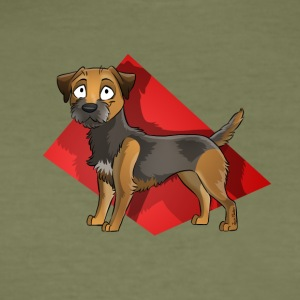 Border Terrier - Slim Fit T-shirt herr
