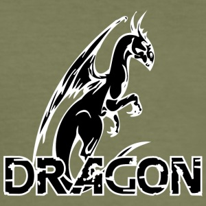 verblijft dragon black - slim fit T-shirt