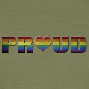 proud to be gay - Männer Slim Fit T-Shirt