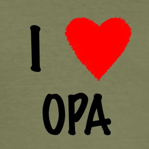 I Love OPA - Männer Slim Fit T-Shirt
