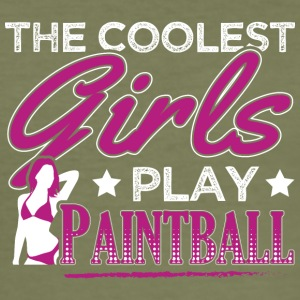 COOLEST GIRLS PLAY PAINTBALL - Männer Slim Fit T-Shirt