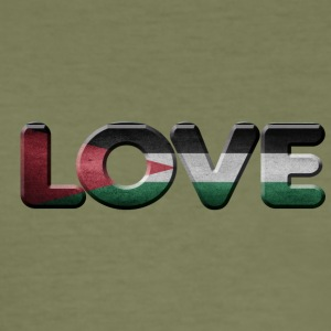 I LOVE Palestine - Slim Fit T-skjorte for menn