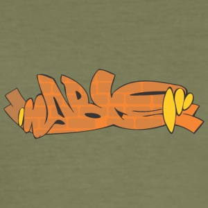 Lage Graffiti - Männer Slim Fit T-Shirt