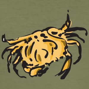 Yellow crab - Männer Slim Fit T-Shirt