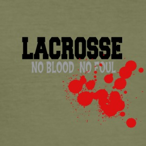 Lacrosse No Blood Foul Nein - Männer Slim Fit T-Shirt