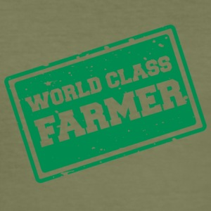 Farmer / Farmer / Farmer: World Class Farmer - Men's Slim Fit T-Shirt