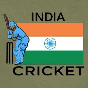India Cricket Player Flag - Slim Fit T-skjorte for menn